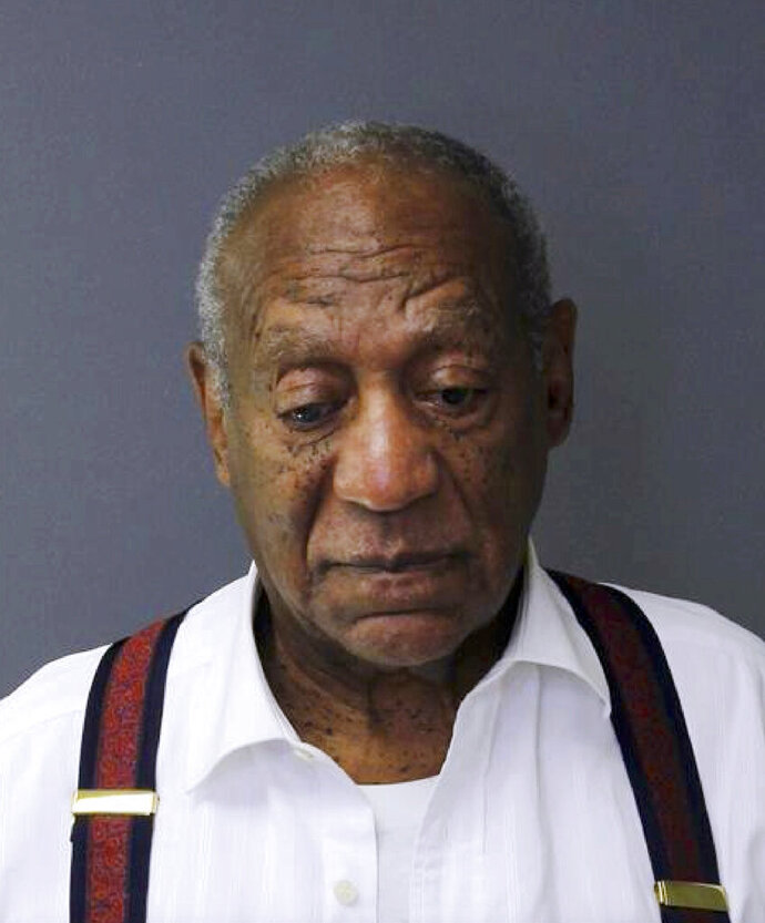 This Sept. 25, 2018, photo provided by the Montgomery County Correctional Facility shows Bill Cosby after he was sentenced to three-to 10-years for sexual assault. The Pennsylvania judge who presided over Bill Cosby's sex-assault case says he let five other accusers testify at Cosby's retrial because they showed his actions were