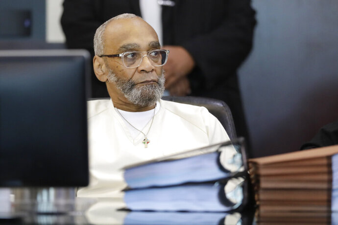 FILE - In this Wednesday, Aug. 28, 2019 file photo, Abu-Ali Abdur'Rahman attends a hearing in Nashville, Tenn. On Friday, Sept. 20, 2019, Tennessee's attorney general is appealing after Abdur'Rahman, on death row, had his sentence converted to life in prison because of concerns that racism tainted his jury selection pool. (AP Photo/Mark Humphrey)