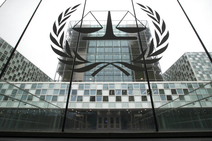 """FILE- In this Nov. 7, 2019 file photo, the International Criminal Court, or ICC, is seen in The Hague, Netherlands. The Prosecutor of the International Criminal Court said Wednesday, March 3, 2021 that she has launched an investigation into alleged crimes in the Palestinian territories. Fatou Bensouda said in a statement the probe will be conducted """"independently, impartially and objectively, without fear or favor.""""(AP Photo/Peter Dejong, File)"""