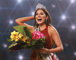 This image released by Miss Universe Organization shows Miss Universe Mexico 2020 Andrea Meza who was crowned Miss Universe at the 69th Miss Universe Competition at the Seminole Hard Rock Hotel & Casino in Hollywood, Fla. on Sunday, May 16, 2021. (Tracy Nguyen/Miss Universe via AP)