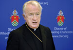 FILE - A 2015 file photo shows West Virginia Bishop Michael J. Bransfield, then-bishop of the Roman Catholic Diocese of Wheeling-Charleston. In a news conference scheduled for Tuesday, July 23, 2019, West Virginia's Roman Catholic Diocese says it's set to discuss its