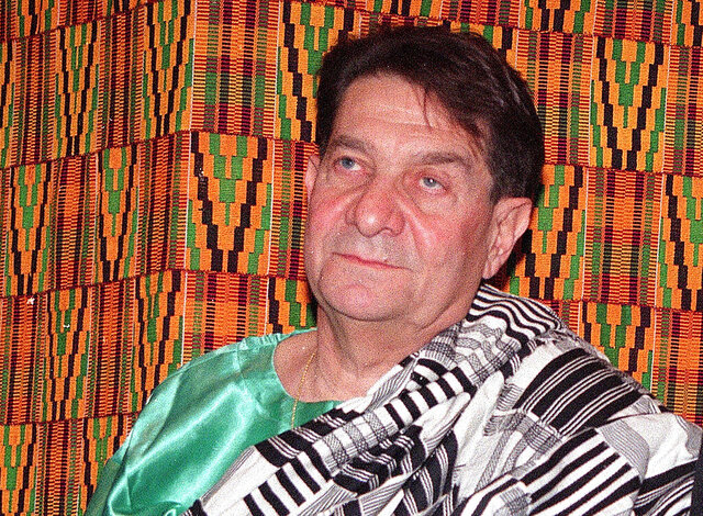 FILE - In this Friday, Jan. 22, 1999, file photo, attorney Fred Levin waits to be honored by the Ambassador of Ghana to the United States, at the United Nations. Levin, the Florida attorney who won a major legal battle against the tobacco industry in the 1990s, died Tuesday, Jan. 12, 2021, days after contracting the coronavirus. He was 83. (AP Photo/Ed Bailey, File)