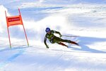 United States' Mikaela Shiffrin competes during an alpine ski, women's World Cup downhill in Bansko, Bulgaria, Friday, Jan. 24, 2020. (AP Photo/Pier Marco Tacca)