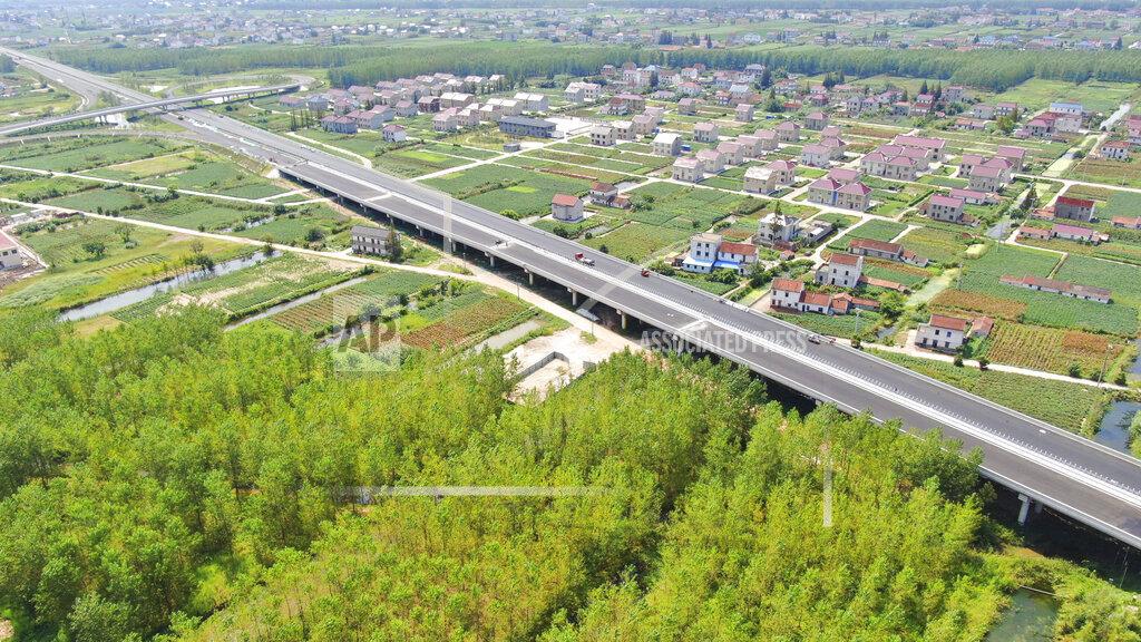 CHINA CHINESE JIANGSU QIDONG HAIAN LONGEST EXPRESSWAY AERIAL