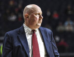 Seattle coach Jim Hayford watches the team play Mississippi during an NCAA college basketball game Tuesday, Nov. 19, 2019, in Oxford, Miss. (Bruce Newman/The Oxford Eagle via AP)