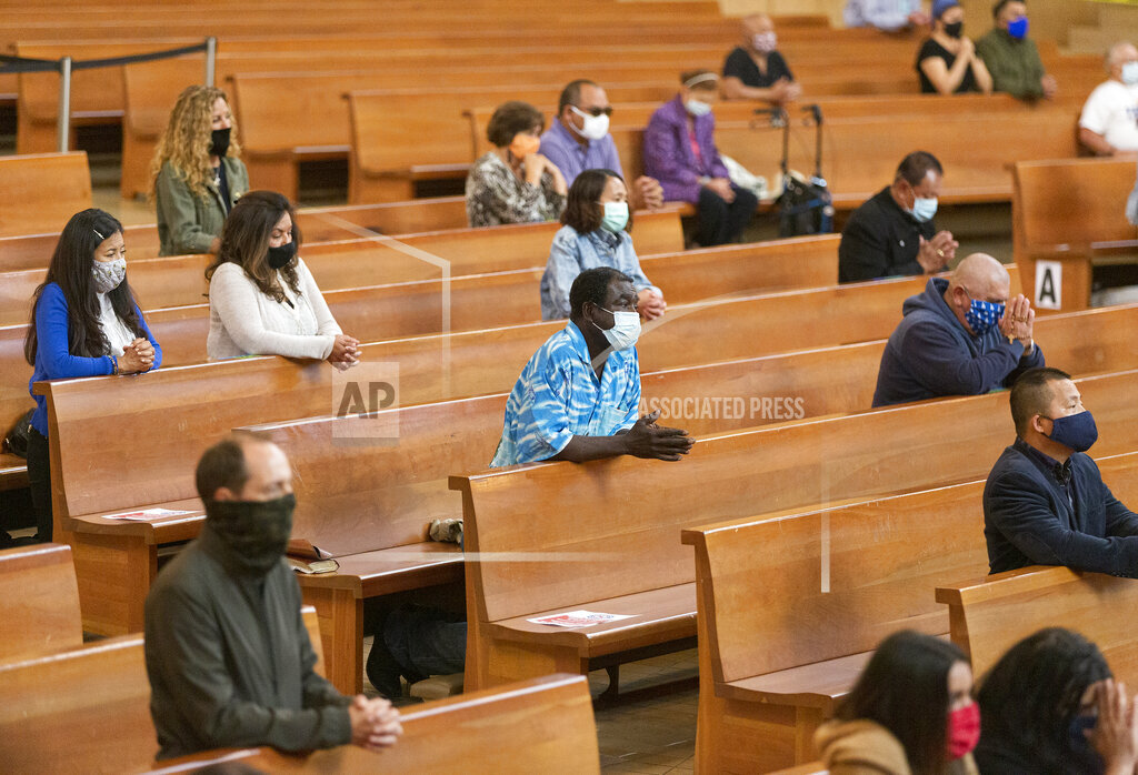 Virus Outbreak California Churches Reopen
