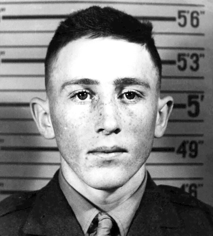 This undated photo provided by the Department of Defense shows Marine Corps Pvt. Channing Whitaker. Whitaker's remains will soon return to his home state of Iowa 76 years after his death in World War II. The Defense Department used DNA from a niece to identify the remains of 18-year-old Pvt. Whitaker, of Granger, Iowa. Whitaker died on Nov. 22, 1943 during the Battle of Tarawa in the Gilbert Islands in the South Pacific. (Department of Defense via AP)