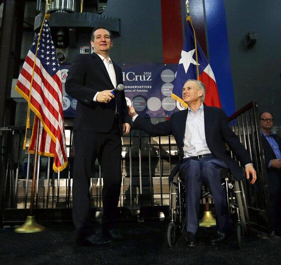 Ted Cruz, Greg Abbott