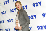 FILE - Cameron Diaz arrives for her 92Y In Conversation with Rachael Ray on April 5, 2016, in New York. Diaz turns 48 on Aug. 30. (Photo by Evan Agostini/Invision/AP, File)
