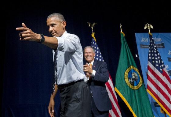 Barack Obama, Jay Inslee
