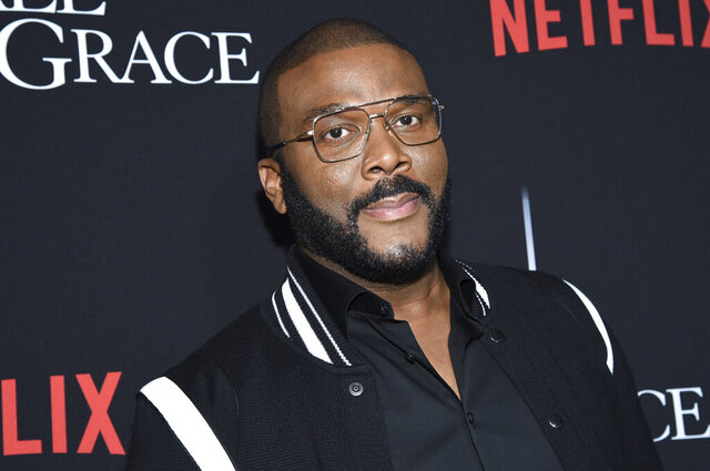 FILE - In this Jan. 13, 2020, file photo, writer-director-actor Tyler Perry attends the premiere of