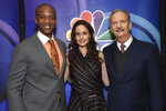 J. August Richards, from left, Sarah Wayne Callies and Michael O'Neill, from the cast of