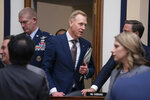 Acting Defense Secretary Patrick Shanahan arrives to testify at a House Armed Services Committee hearing on the fiscal year 2020 Pentagon budget, on Capitol Hill in Washington, Tuesday, March 26, 2019. Lawmakers are concerned about military construction projects that could lose funding to pay for President Donald Trump's border wall. (AP Photo/J. Scott Applewhite)
