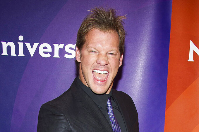 FILE - In this June 24, 2015, file photo, Chris Jericho arrives at the NBCUniversal New York Summer Press Day event at The Four Seasons Hotel in New York. Backed by billionaire Jacksonville Jaguars owner Shahid Khan and his son Tony, new promotion All Elite Wrestling is set to make its debut on Wednesday, Oct. 2, 2019, on TNT. The company wants to give WWE a run for its money and has already signed big stars Chris Jericho and Cody Rhodes to make an instant splash. (Photo by Charles Sykes/Invision/AP, File)