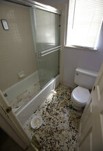 The bathroom is strewn with feces at a home in Fairfield, Calif., Monday, May 14, 2018, where authorities removed 10 children and charged their father with torture and their mother with neglect after an investigation revealed a lengthy period of severe physical and emotional abuse. (AP Photo/Rich Pedroncelli)
