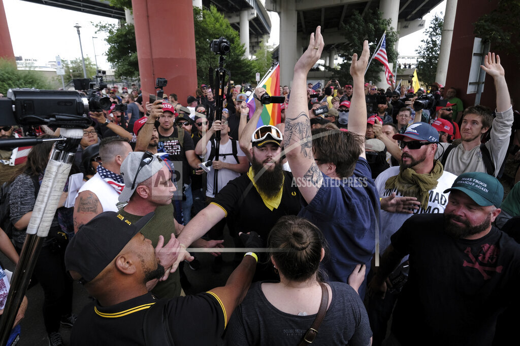 OR: Proud Boys Protest In Portland