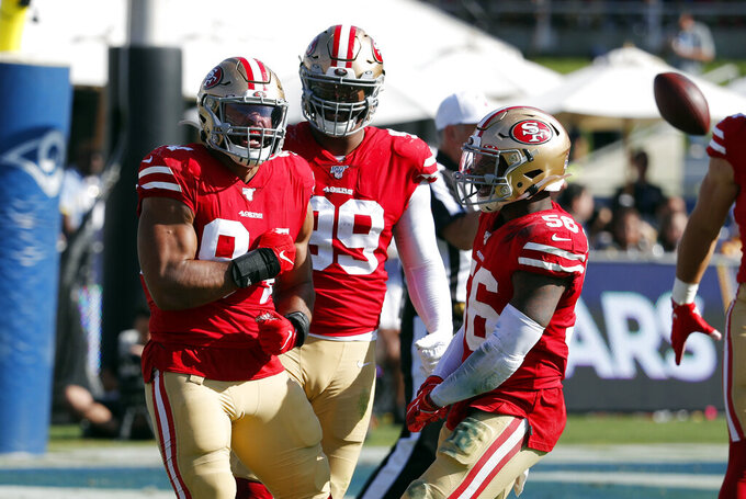 Undefeated 49ers remain grounded after 5 straight wins