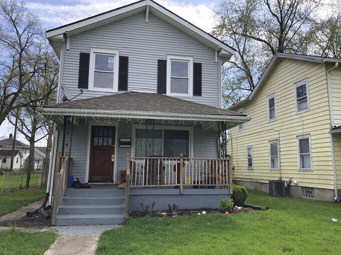 """This April 9, 2021, photo shows the childhood home of J.D. Vance, the author of """"Hillbilly Elegy"""" in Middleton, Ohio. Vance, whose book helped explain to the nation Donald Trump's popularity among the Appalachian working class, is """"thinking seriously"""" about running for the U.S. Senate seat Republican two-term incumbent Rob Portman decided against seeking again in 2022. (AP Photo/Dan Sewell)"""