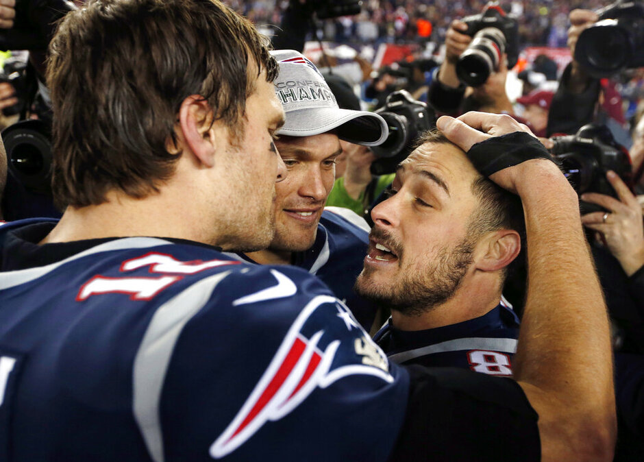 Tom Brady, Chris Hogan, Danny Amendola
