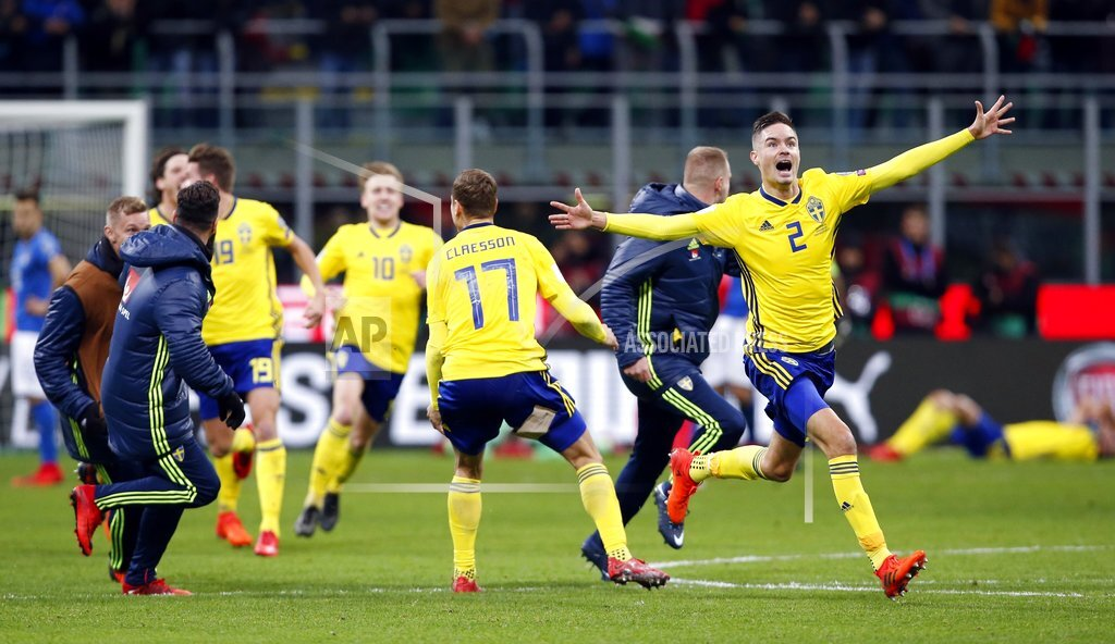 Arrivederci Italy: Azzurri lose World Cup playoff to Sweden