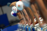 Participants compete at Women's 50m Freestyle - S10 Heat 2 at the Tokyo Aquatics Centre during the Tokyo 2020 Paralympic Games, Wednesday, Aug. 25, 2021, in Tokyo, Japan. (AP Photo/Emilio Morenatti)