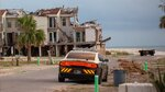 In this photo provided by News21, eight months after Hurricane Michael, the devastation is still evident in Mexico Beach, Fla., Sunday, June 2, 2019. (Peter Nicieja/News21 via AP)