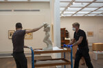 Israel Museum staff move Auguste Rodin's