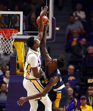 APTOPIX UNC Greensboro LSU Basketball