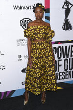 Kiki Layne attends the 12th Annual ESSENCE Black Women in Hollywood Awards at the Beverly Wilshire Hotel on Thursday, Feb. 21, 2019, in Beverly Hills, Calif. (Photo by Richard Shotwell/Invision/AP)