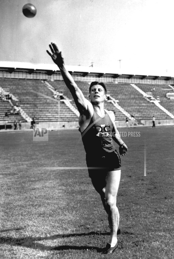 Associated Press Sports United States Track and field MORRIS SHOT PUT