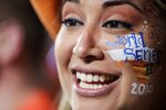 Melissa Guitron waits for the start of Game 1 of the baseball World Series between the Houston Astros and the Washington Nationals Tuesday, Oct. 22, 2019, in Houston. (AP Photo/David J. Phillip)