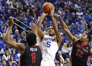 Andrew Harrison, Yante Maten, Kenny Gaines