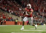 Wisconsin's Jonathan Taylor runs for a touchdown during the second half of an NCAA college football game against Nebraska Saturday, Oct. 6, 2018, in Madison, Wis. (AP Photo/Morry Gash)