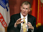 In this March 11, 2013, photo, retired U.S. Army Gen. Stanley McChrystal speaks during a forum called