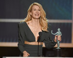 Laura Dern accepts the award for outstanding performance by a female actor in a supporting role for