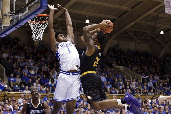 No. 1 Duke bounces back from SFA loss, beats Winthrop 83-70