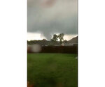 This still image taken from video provided by Shayla Brooks shows a tornado on Wednesday, May 22, 2019, in Carl Junction, Mo. The tornado caused some damage in the town of Carl Junction, about 4 miles (6.44 kilometers) north of the Joplin airport. (Shayla Brooks via AP)