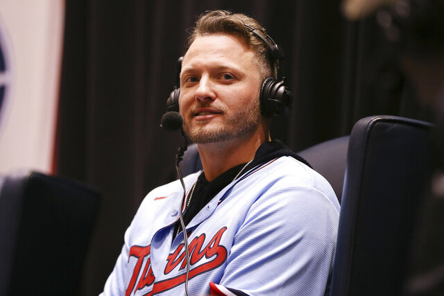 Minnesota Twins' Josh Donaldson attends the baseball team's TwinsFest, Friday, Jan. 24, 2020, in Minneapolis. (AP Photo/Stacy Bengs)