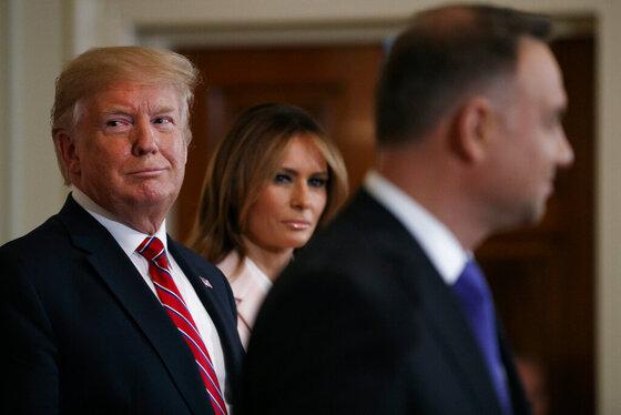Donald Trump, Andrzej Duda, Melania Trump