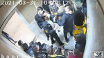 """In this undated frame grab taken from video shared with The Associated Press by a self-identified hacker group called """"The Justice of Ali,"""" a guard beats a prisoner, at Evin prison in Tehran, Iran. The alleged hackers said the release of the footage was an effort to show the grim conditions at the prison, known for holding political prisoners and those with ties abroad who are often used as bargaining chips in negotiations with the West. (The Justice of Ali via AP)"""