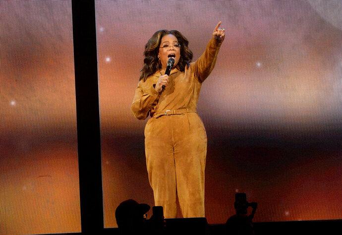 Oprah Winfrey participates in