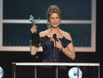 Renee Zellweger accepts the award for outstanding performance by a female actor in a leading role for