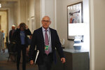 Tampa Bay Buccaneers owner and co-chairman Joel Glazer arrives to the NFL football owners meeting on Wednesday, May 22, 2019, in Key Biscayne, Fla. (AP Photo/Brynn Anderson)