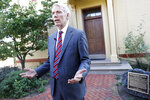Sen. Rob Portman, R-Ohio, is interviewed outside the William Howard Taft National Historic Site, Friday, Sept. 14, 2018, in Cincinnati. Portman, who's been a strong advocate for Supreme nominee Brett Kavanaugh, remains confident he will be confirmed after a