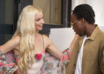 Actors Anya Taylor-Joy, left, and Michael Ajao pose for photographers at the photo call for the film 'Last Night In Soho' during the 78th edition of the Venice Film Festival in Venice, Italy, Saturday, Sep, 4, 2021. (AP Photo/Domenico Stinellis)