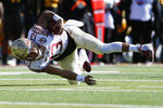 Florida State's Jordan Travis stumbles with the ball during the Sun Bowl NCAA college football game against Arizona State, Tuesday, Dec. 31, 2019 in El Paso, Texas. (Briana Sanchez/The El Paso Times via AP)