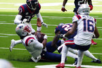New England Patriots quarterback Cam Newton (1) slides for a first down against the Houston Texans during the first half of an NFL football game, Sunday, Nov. 22, 2020, in Houston. (AP Photo/David J. Phillip)