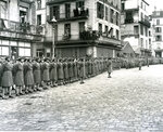In this photo provided by the U.S. Army Women's Museum, members of the 6888th battalion stand in formation in Rouen, France, in 1945. The Women's Army Corps battalion, which made history as the only all-female Black unit to serve in Europe during World War II, is set to be honored by Congress. (U.S. Army Women's Museum via AP)