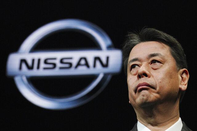 Nissan Chief Executive Makoto Uchida speaks during a press conference in the automaker's headquarters in Yokohama, near Tokyo Monday, Dec. 2, 2019. (AP Photo/Eugene Hoshiko)