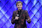 FILE - Barry Manilow speaks at the 65th annual BMI Pop Awards on May 9, 2017, in Beverly Hills, Calif. Manilow turns 74 on June 17. (Photo by Chris Pizzello/Invision/AP, File)